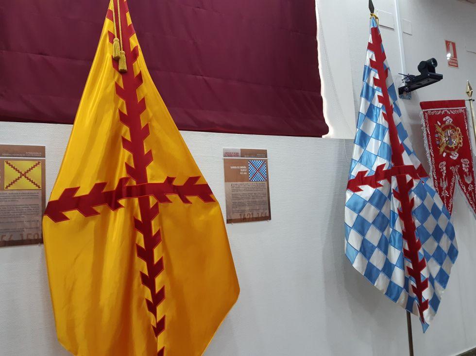 Banderas de tercios con la cruz de Borgoña o San Andrés.