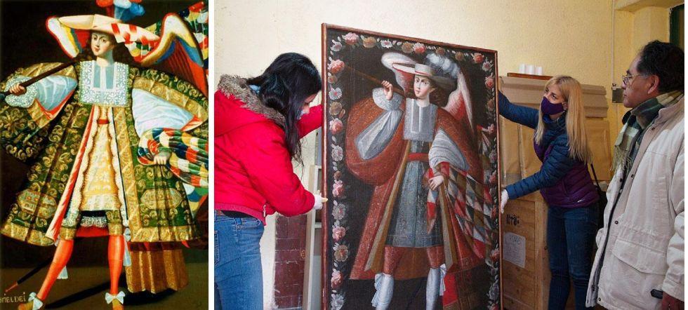 Izquierda: el Gabriel Dei de Calamarca. Derecha:  el Gabriel Dei de Jujuy.