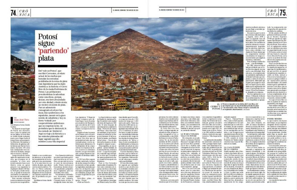 El presente texto en su publicación en El Mundo, de España.