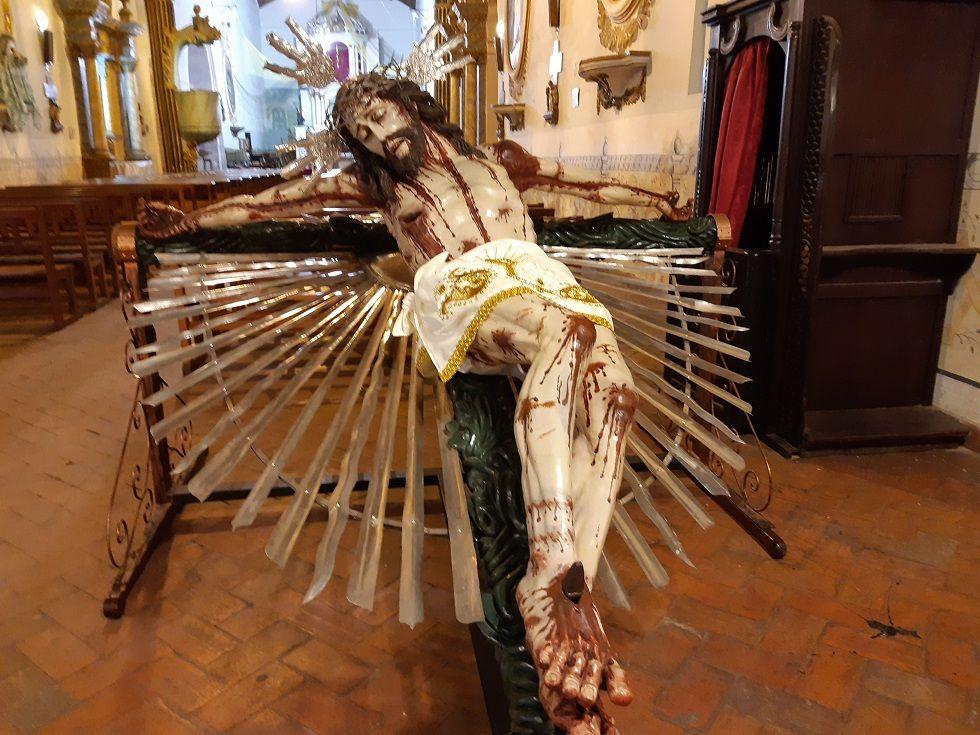 El Cristo del Buen Suceso está en el templo de la Merced.