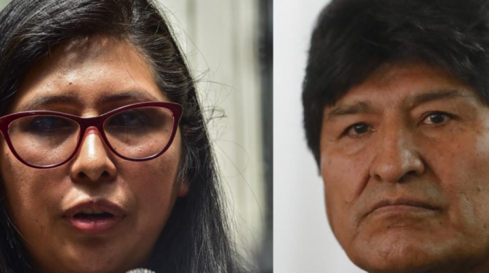 """Evo Morales tilda de """"traidora"""" a Eva Copa y ella señala que es un """"político mentiroso"""""""