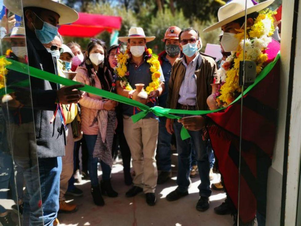 Imágenes del acto de inauguración en Tupiza. FOTO ANH