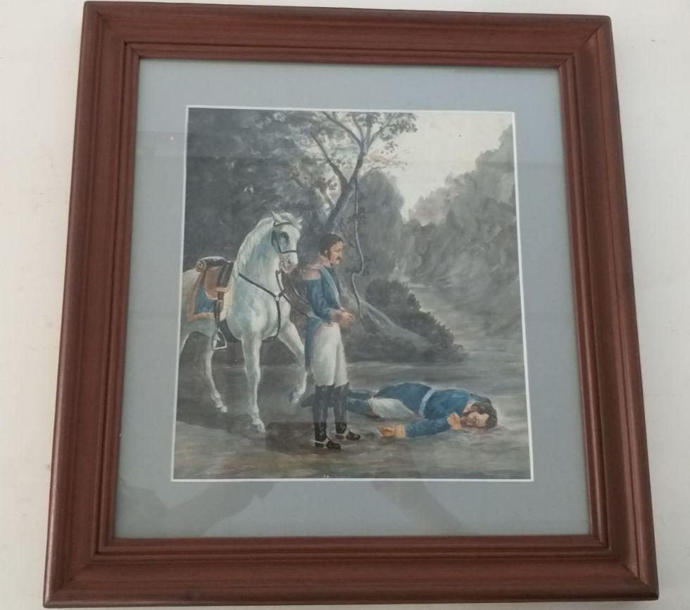 El cuadro en la Casa de la Libertad.