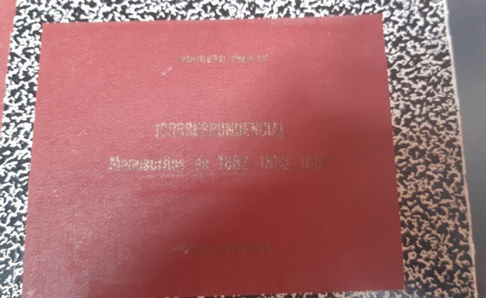 Tapa del libro copiador de Modesto Omiste.