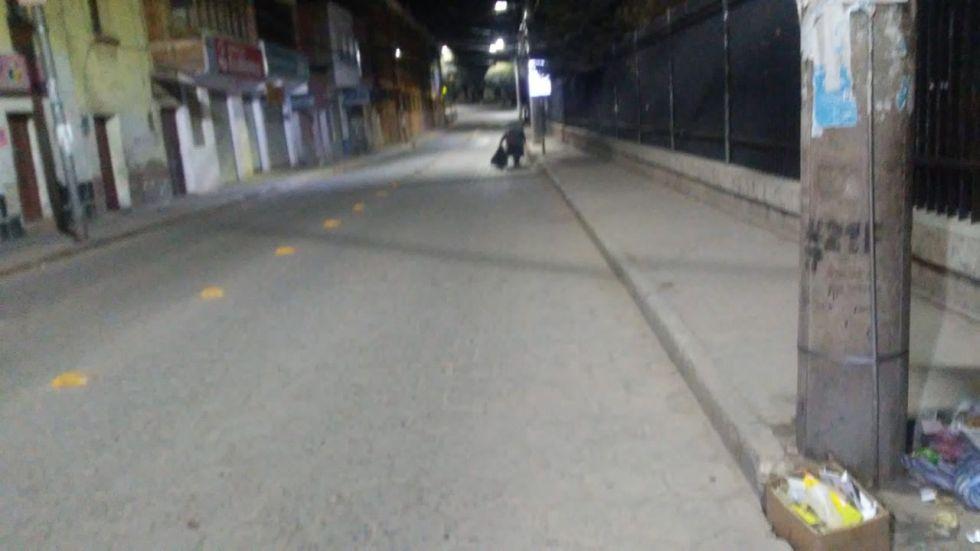 Piden a la ciudadanía no dejar basura en las calles esta jornada de encapsulamiento. FOTO EMAP
