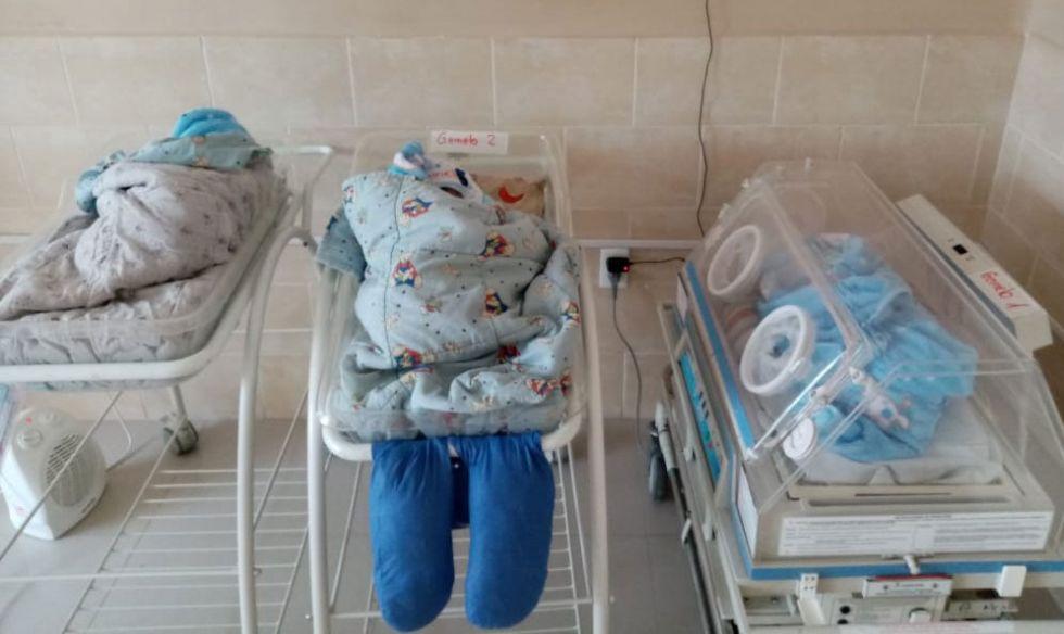 Una madre que padece COVID-19 dio a luz a trillizos en Chuquisaca