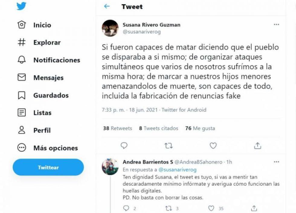 ¿Cuándo renunció la exdiputada Susana Rivero a la primera vicepresidencia de la Cámara Baja?