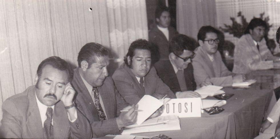 Congreso de Asbora, marzo de 1977, en Oruro.