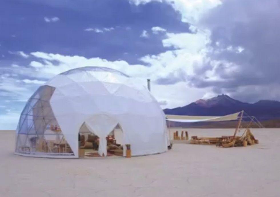 El sudoeste potosino inicia vigilia en la zona donde orureños instalaron domos para albergue de turistas