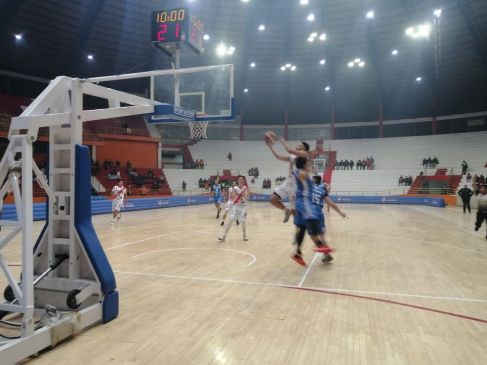 El partido se disputó en el Coliseo Ciudad de Potosí.