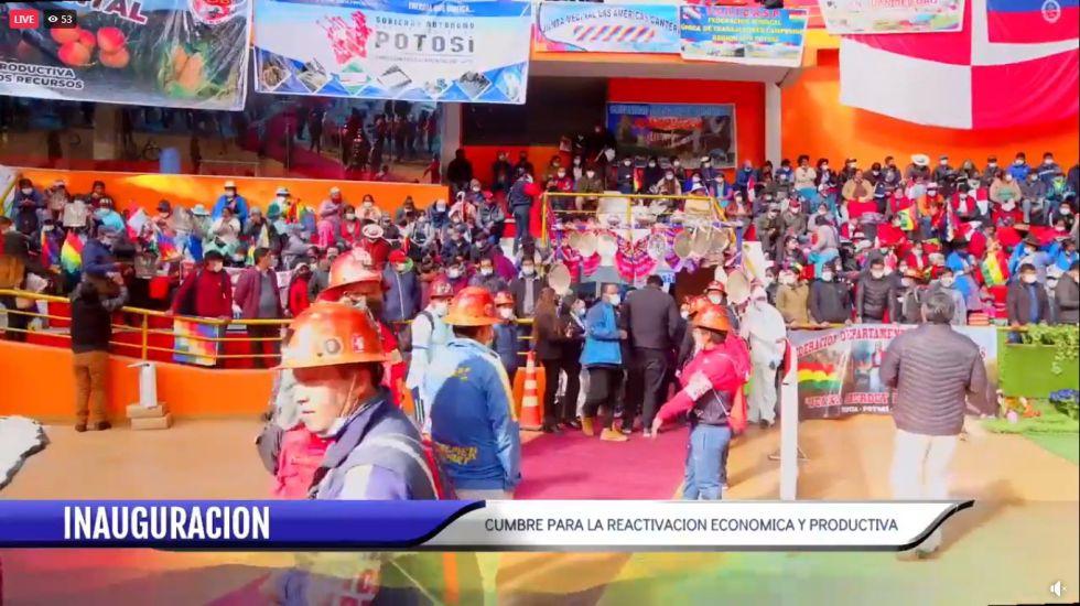 Inicia al Cumbre para la Reactivación Económica y Productiva en Potosí