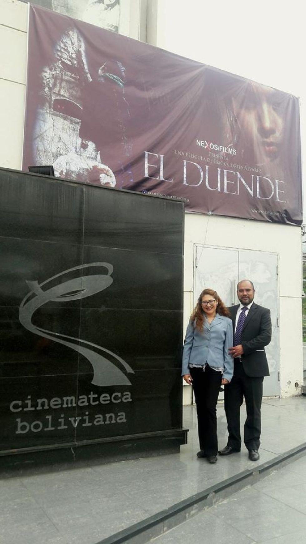 Mónica Chacón y Erick Cortéz, de la productora Nexos Films