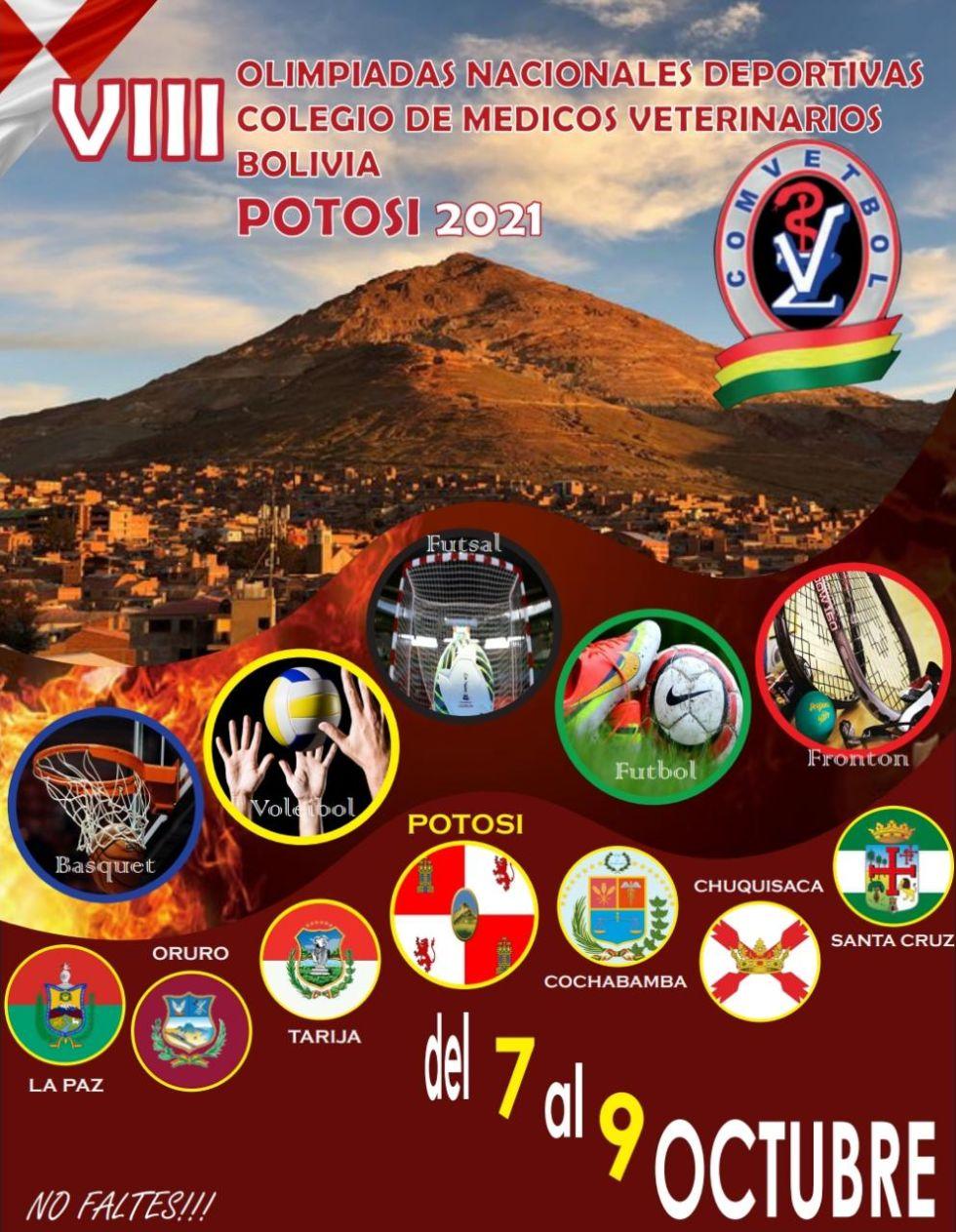 Colegios de veterinarios de Bolivia se reúnen en Potosí para olimpiada deportiva