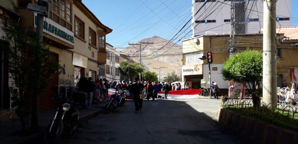 Así está el segundo día de paro cívico en la ciudad de Potosí
