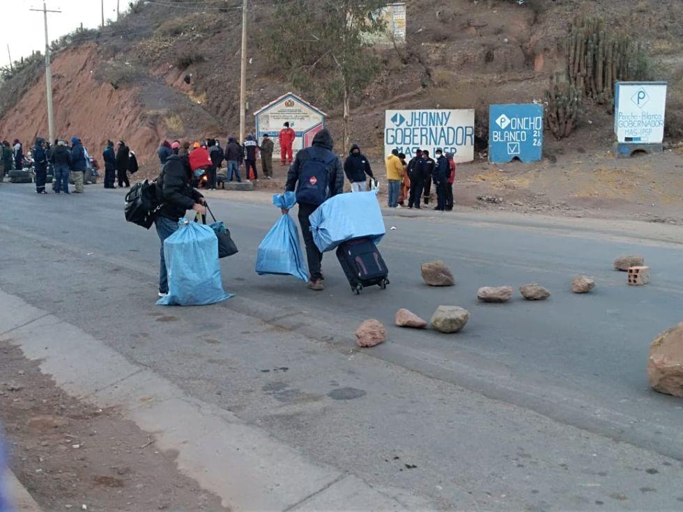 Reportan que Tupiza cumple paro de 24 horas en demanda de proyectos para la región