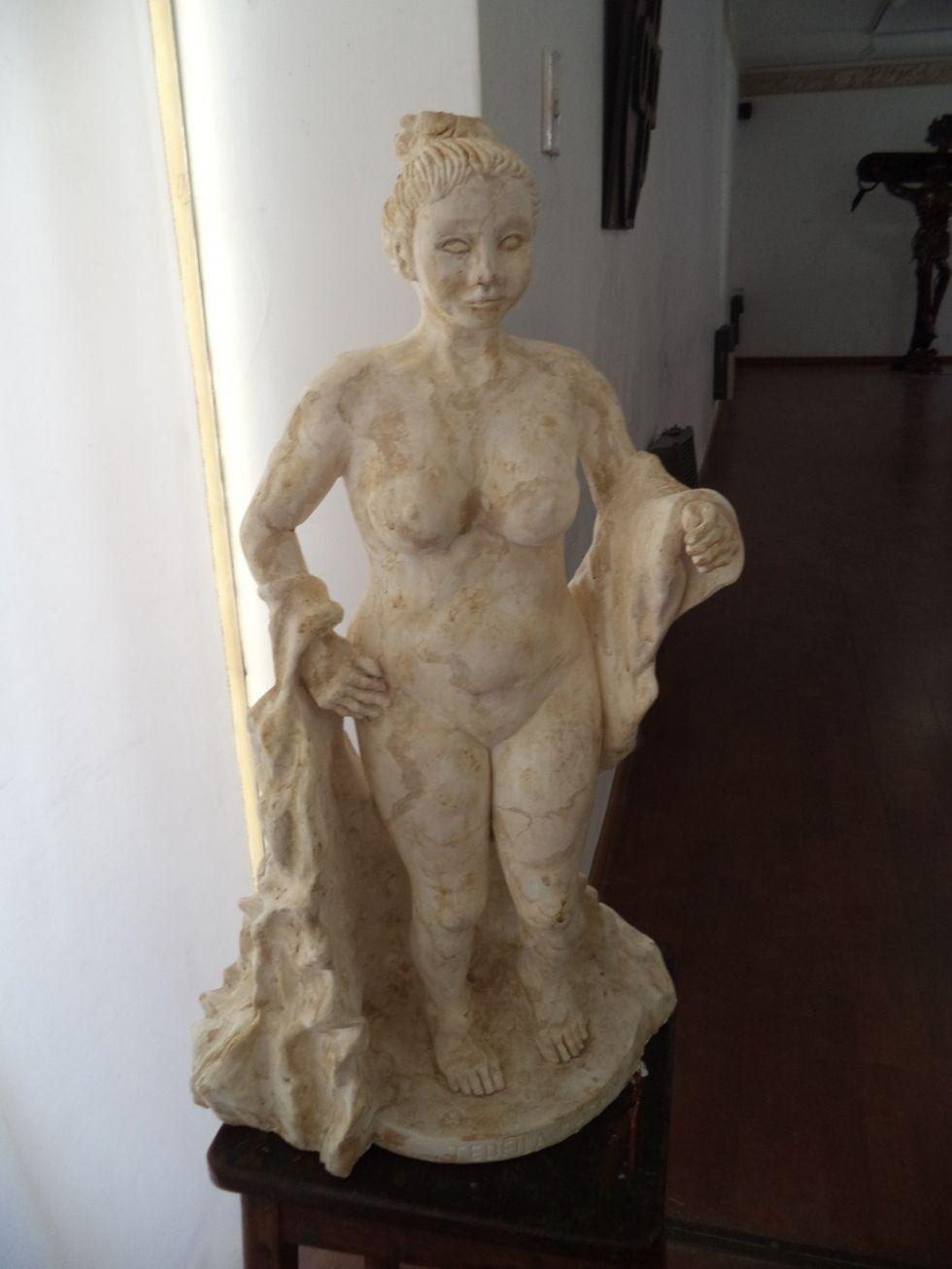 La exposición en el Pabellón de los Oficiales Reales.