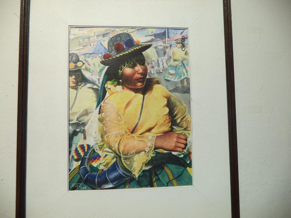 Sus obras incluyen  detalles en acuarela.