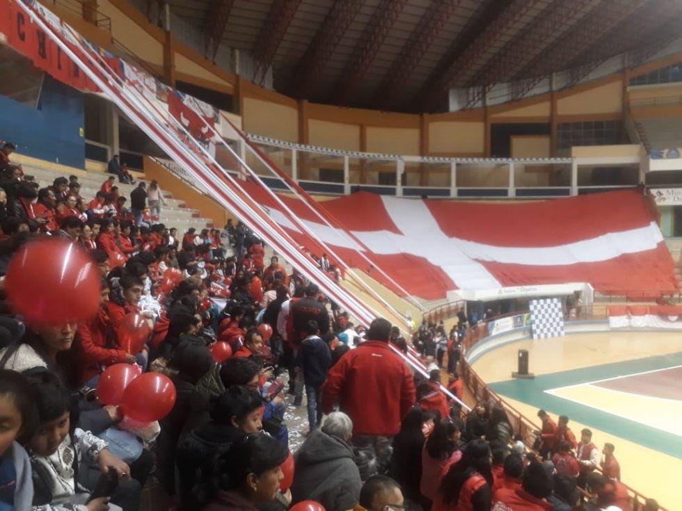 Escenas del partido disputado en Sucre