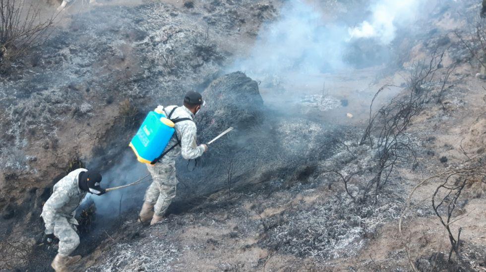 La lucha contra el fuego.