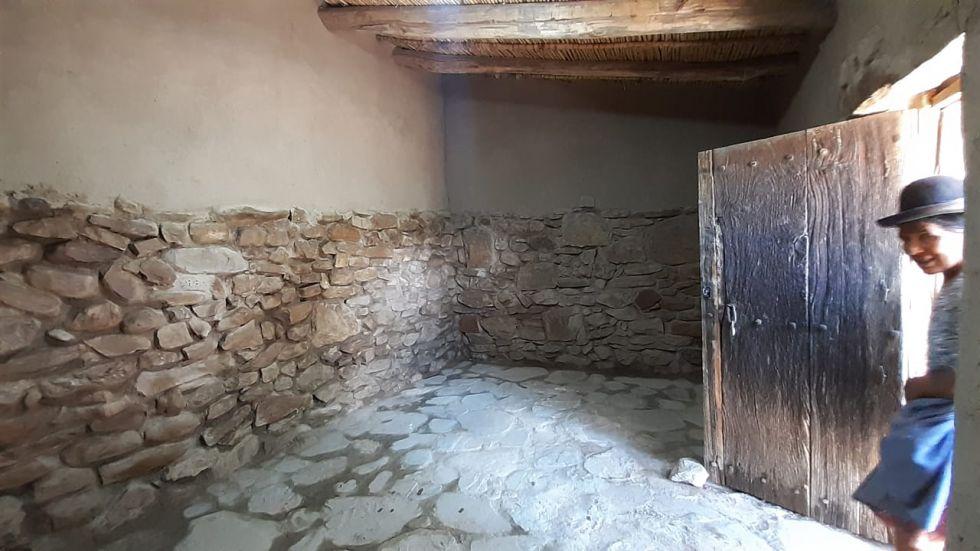 La vivienda fue recuperada. Se encontraba en ruinas y se buscó su preservación