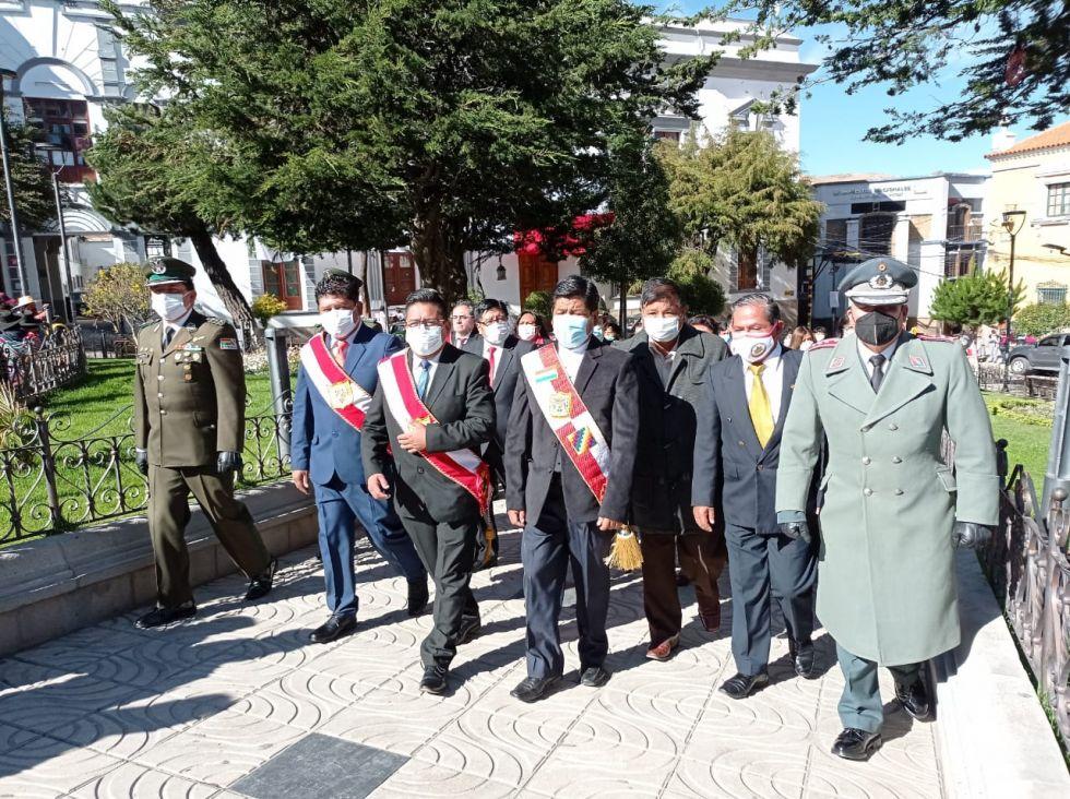 Los actos de homenaje al 1º de Potosí se desarrollan sin actividades masivas.