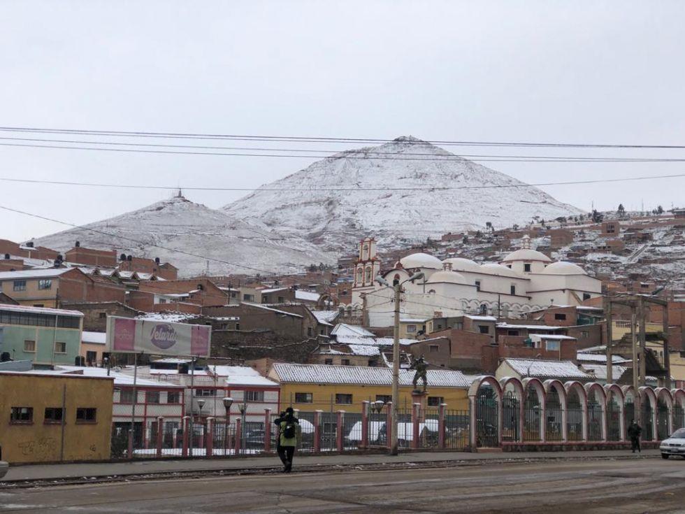 Así está Potosí tras una noche nevada